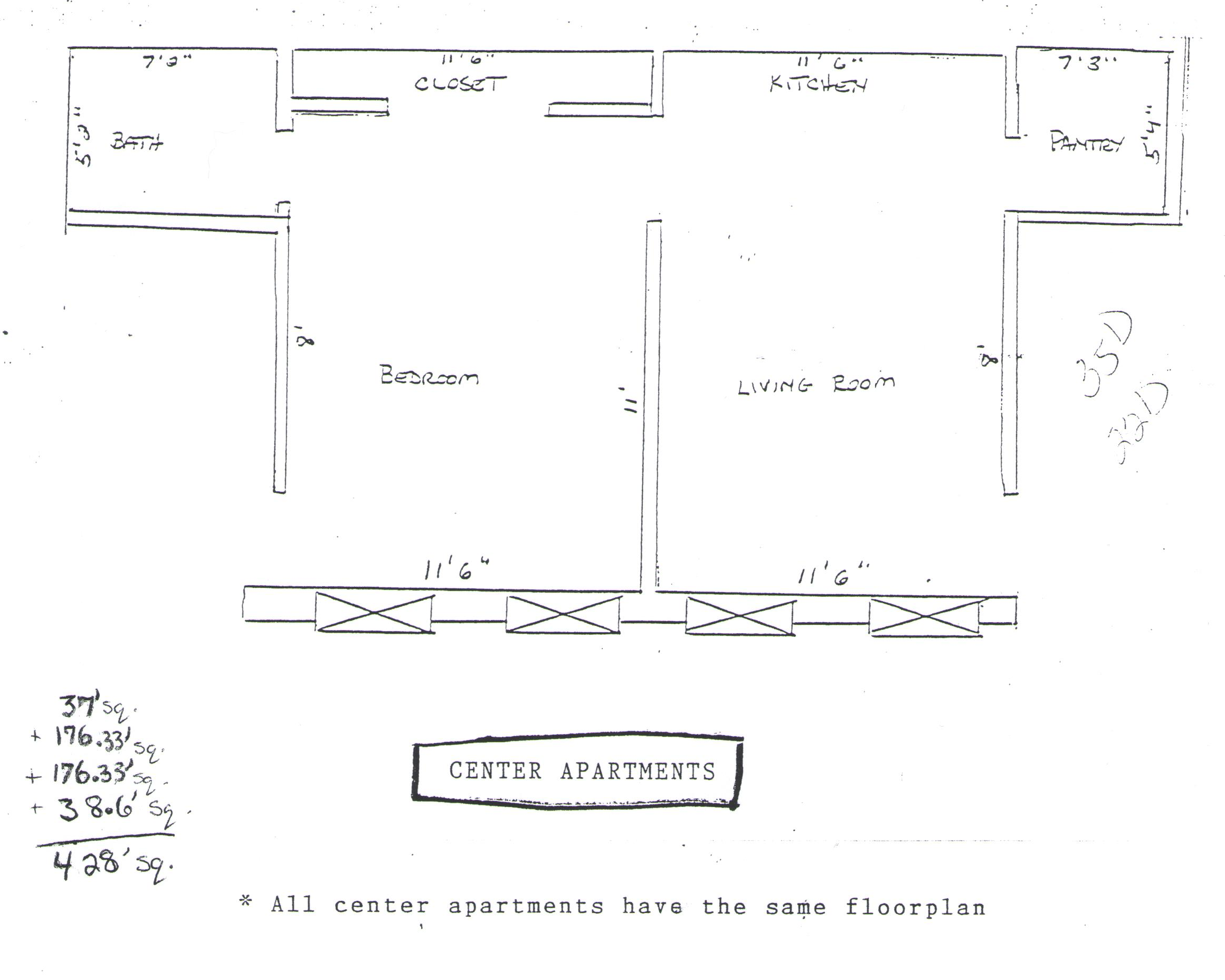 center floor plan