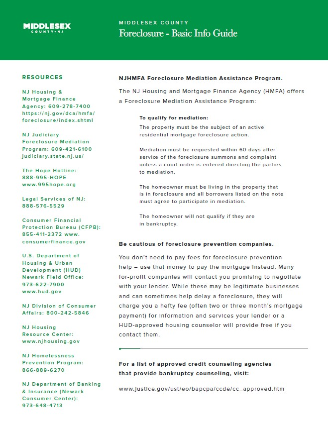 Foreclosure Resources Page 2