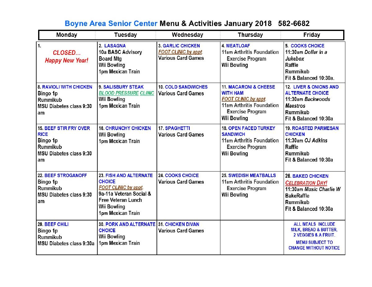 Boyne Area JAN 2018 Calendar Final