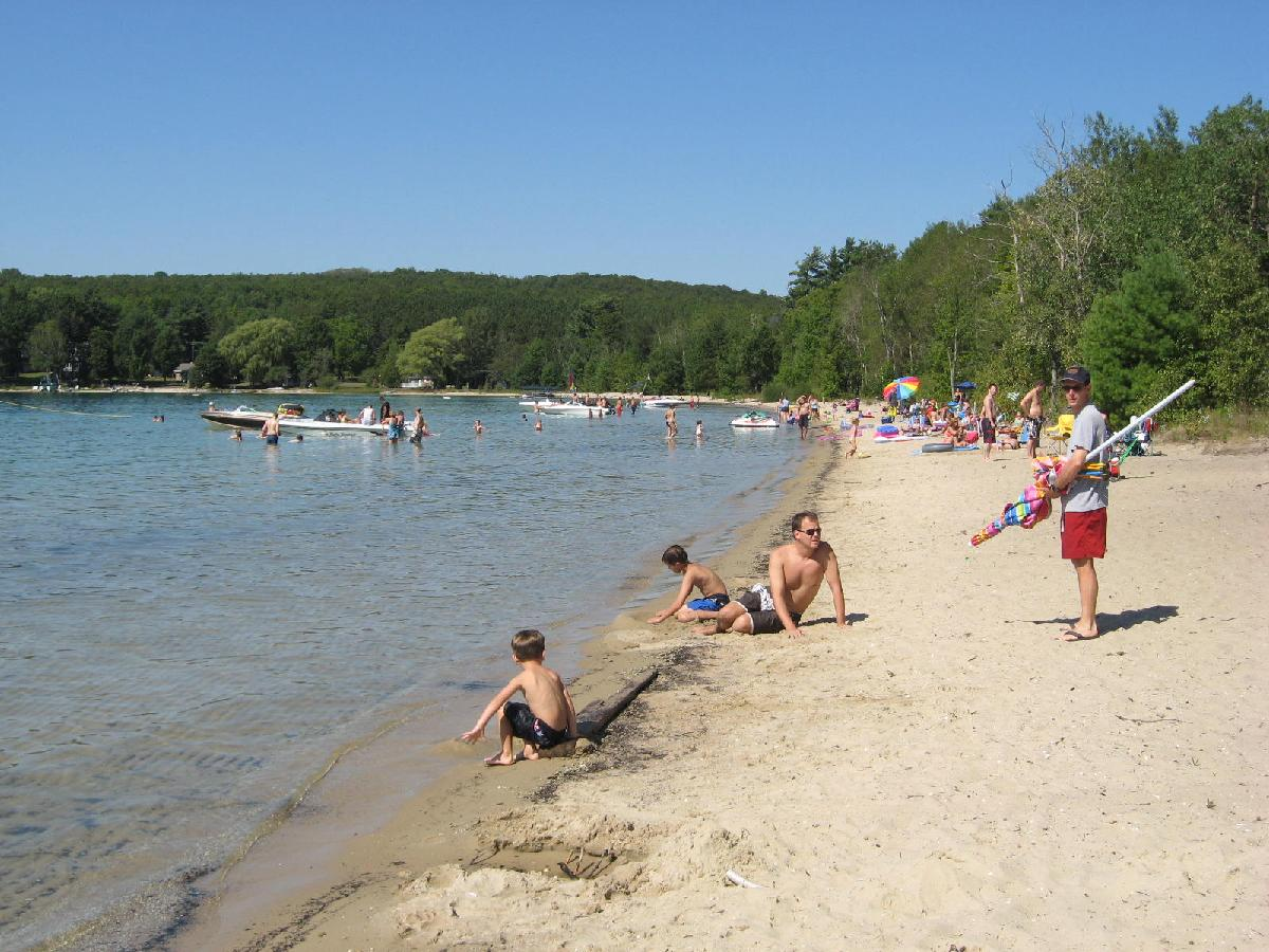 Thumb Lake Park - Sunning, swimming and boating