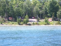 Whiting Park - View of Campground from Lake Charlevoix