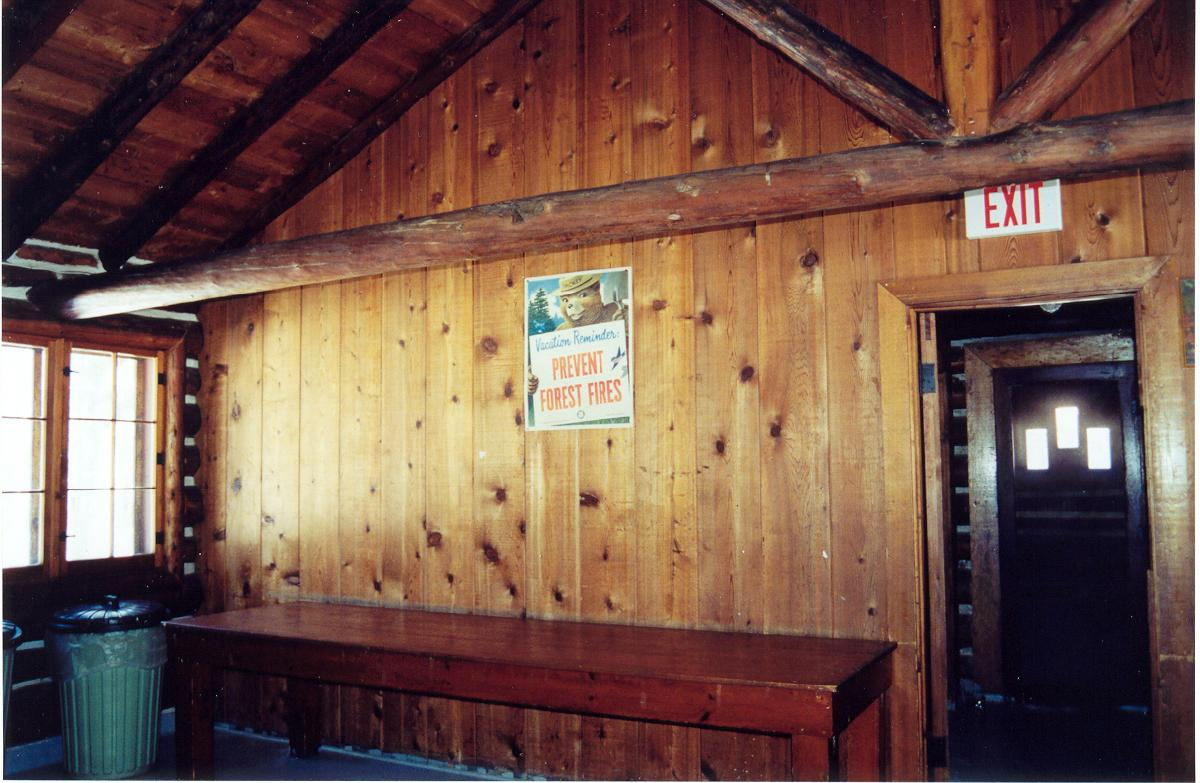Whiting Park Log Cabin Interior 2