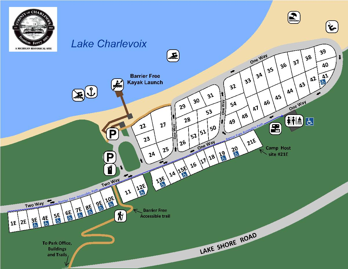 Whiting Park Campground Map latest