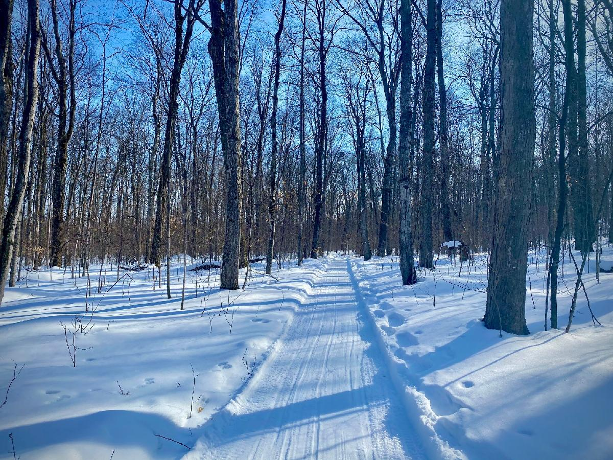 winter trail groomed