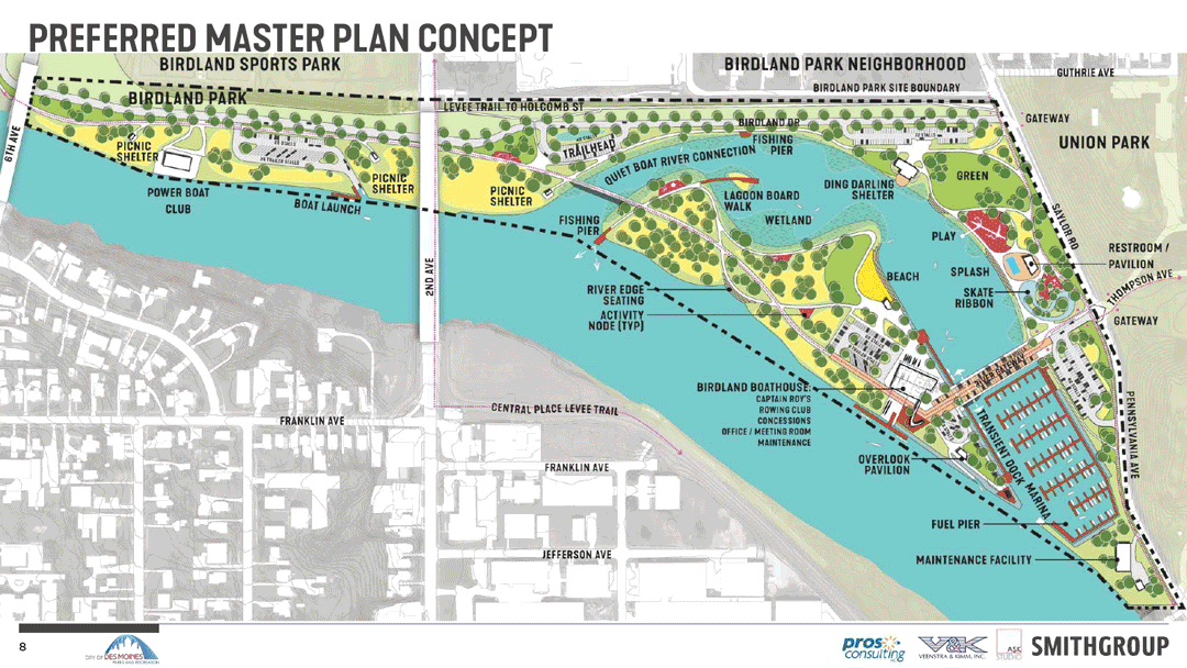 Birdland Park and Marina Draft Plan Map