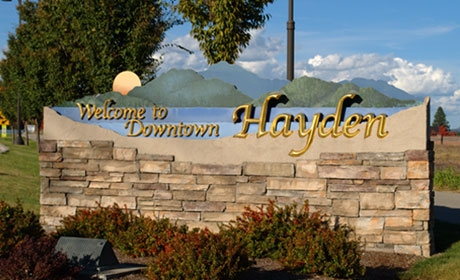 Downtown Hayden Sign